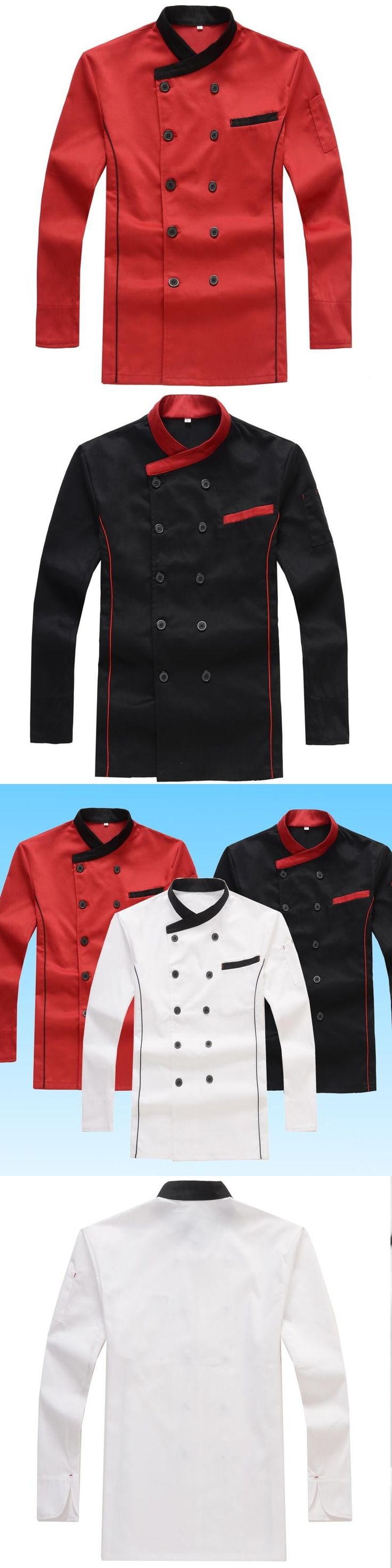 Hotel Chef Wear Long Sleeved Autumn Cake Baking Western-style Food Kitchen Chef Uniforms for Men and Women