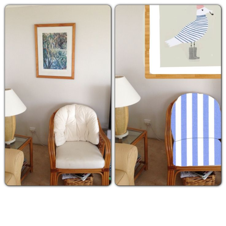 Working on the computer. Stripes for this chair I think (and a pipe-smoking seagull). Follow us on Instagram for more ideas @queenslandinteriors