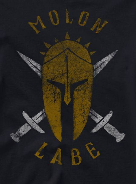 Share PatriotDepot and get a coupon for $5 off your order of $25 or more! Molon Labe Shirt (Black) #patriotdepot