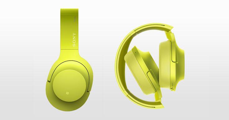 h.ear on Wireless NC — stylowe, wygodne słuchawki bezprzewodowe z pałąkiem na głowę, łączem Bluetooth, systemem cyfrowego osłabiania hałasów i wydajnym akumulatorem (MDR-1000ABN)