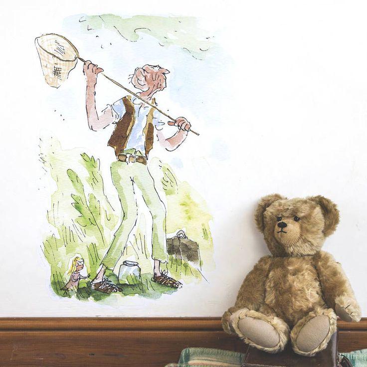 Roald Dahl / Quentin Blake Bfg Wall Sticker