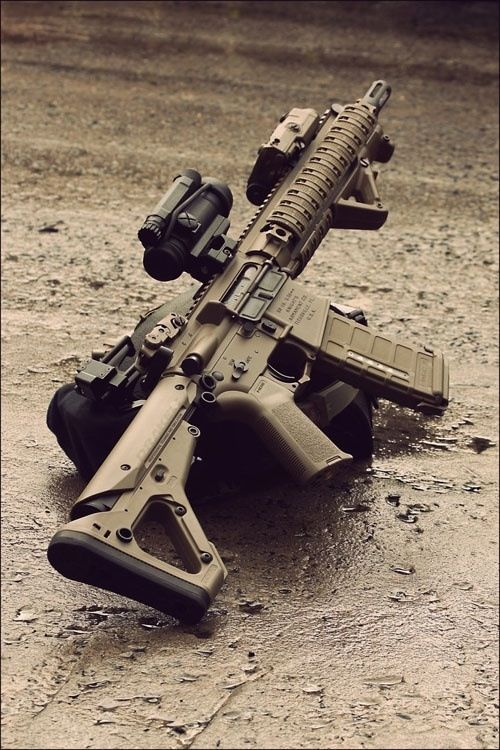 """My man says I have to pin """"this shit"""" creating a board for him now....HAHAHA Sig Sauer 556 custom"""