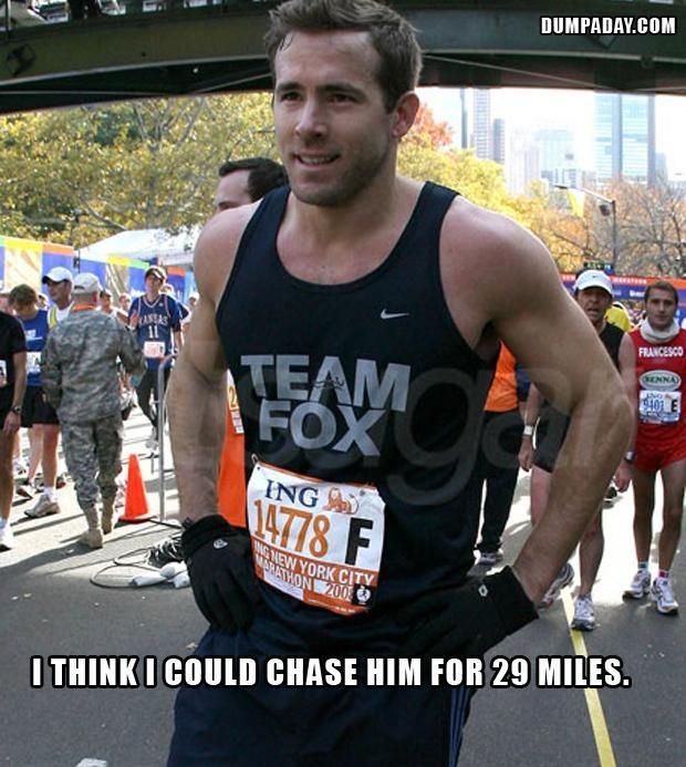 the only way I could ever run a marathon.