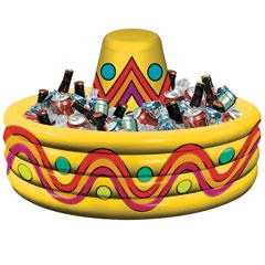 29 Inch Blow Up Inflatable Sombrero Cooler from Windy City Novelties  http://www.windycitynovelties.com/13691p/29-inch-blow-up-inflatable-sombrero-cooler.html