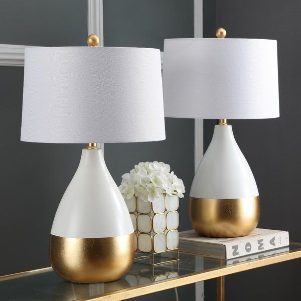 Elser 24 Standard Table Lamp Set Table Lamps Living Room White
