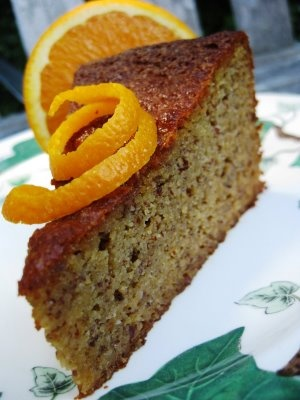Valencia Orange Cake - a flourless cake made with almonds, from the orange-growing region of Valencia, Spain.