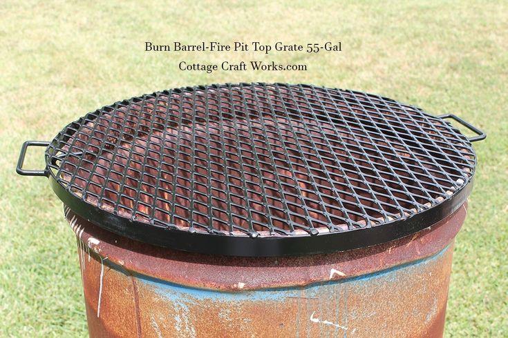 Burn barrel top grate lid fits 55gal barrels in 2020