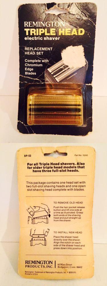 Shaver Parts and Accessories: Remington Triple Head Shaver Replacement Head Chromium Blades Set Sp-52 Vintage BUY IT NOW ONLY: $32.99