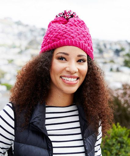 95277549d37 Curvaceously Chic Hat - Free Pattern on Red Heart