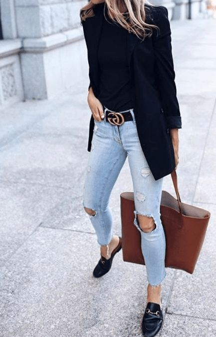 Cute women casual outfits summer with jeans There…
