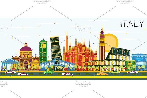 #Italy #City #Skyline with #Color  by Igor Sorokin on @creativemarket