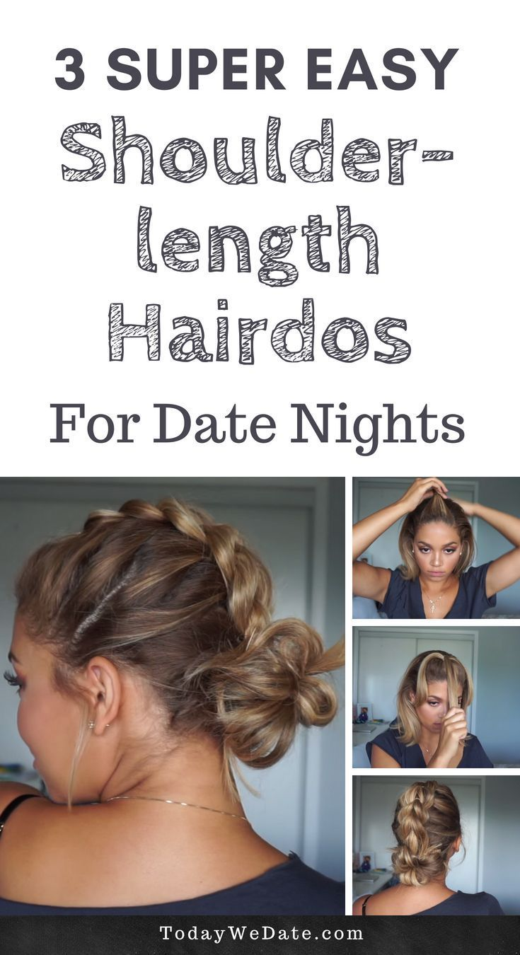 3 Easy Shoulder Length Hairstyles To Up Your Date Night Todaywedate Com Hairstyles Da Medium Hair Styles Medium Length Hair Styles Shoulder Length Hairdos
