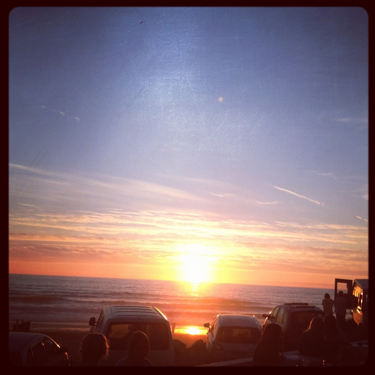 Watching the sunset at Blue Bar, Porthtowan, Cornwall