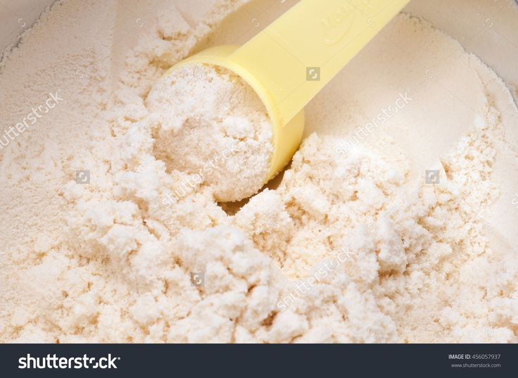 Close Up Of Powdered Milk And Spoon For Baby On White Background With Clipping Path Stock Photo 456057937 : Shutterstock