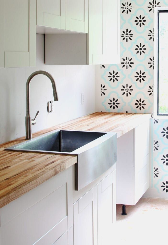 Our Stainless Steel Farmhouse Sink 100 Day Review Stainless Steel Farmhouse Sink Farmhouse Sink Ikea Kitchen