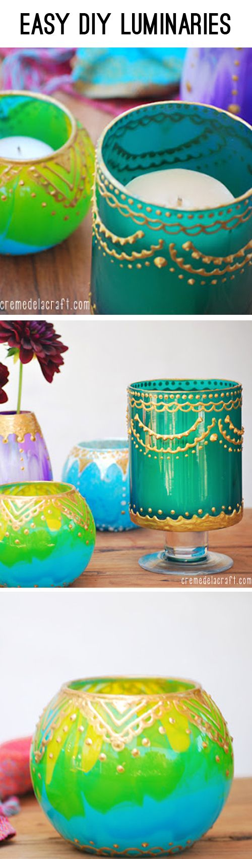 Make these easy but stunning Moroccan style luminaries with Creme de la Craft