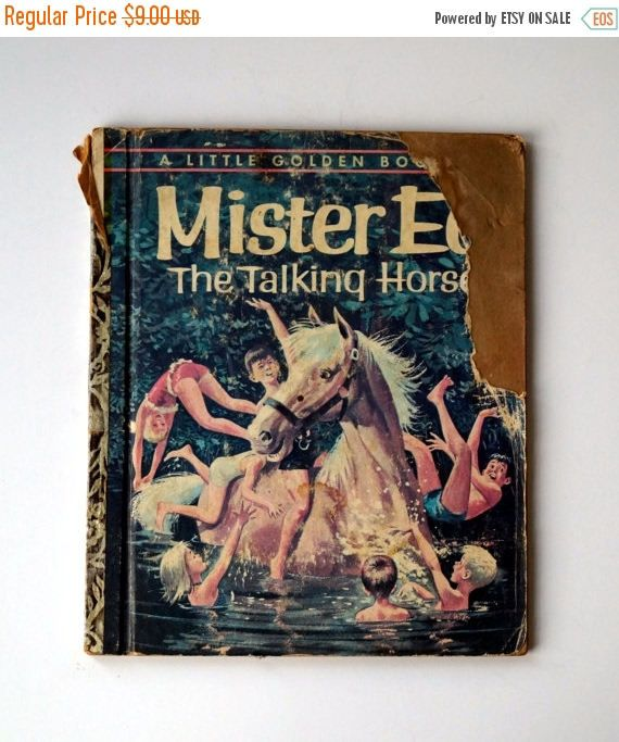 SALE FIRST EDITION Mister Ed The Talking Horse Little Golden Book - 1962 - Vintage Children's Book Based on the Television Show by ElpineVintageBooks on Etsy