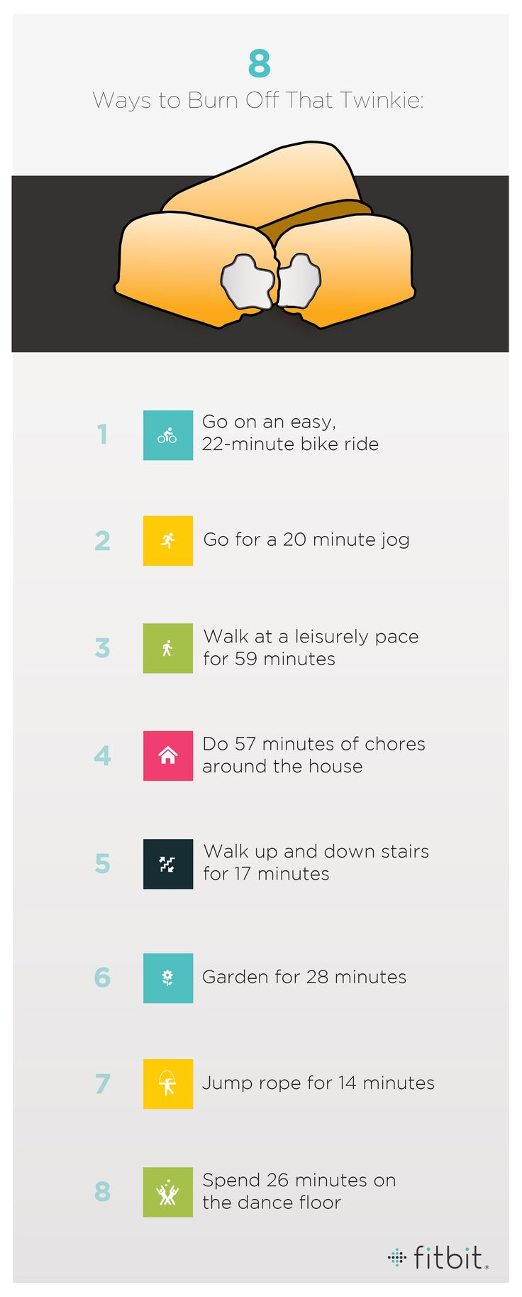 Rumor has it that Twinkies are back on store shelves today. If anyone decides to indulge themselves in the spongy snack, here's some ways the average person can burn off all 150 calories afterwards!