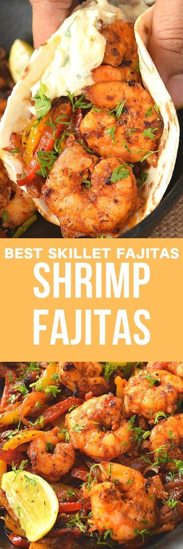 Shrimp Fajitas Rezept (Würzige Pfanne Shrimp Fajitas)