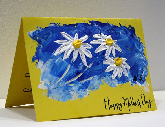 Greeting Card Hand Painted Card Personalized Greeting Card