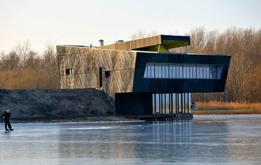 The Oostvaarders- A Cliff-Like Nature Center Clad in Geometric Prefab Panels