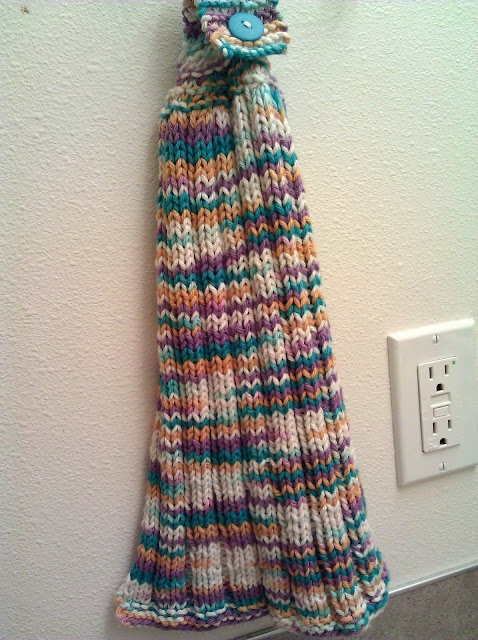 Button Top Ribbed Hand Towel Knitting Pinterest