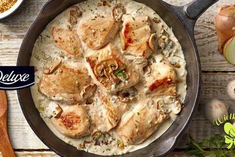 Przepyszny kurczak w sosie pieczarkowym z estragonem to jedna z wielu obiadowych propozycji, jakie znajdziesz w Kuchni Lidla. Zajrzyj i poznaj ich więcej!
