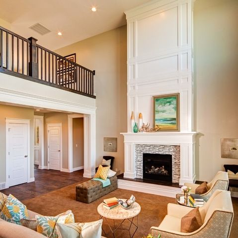 Two Story Fireplace Design                                                                                                                                                     More