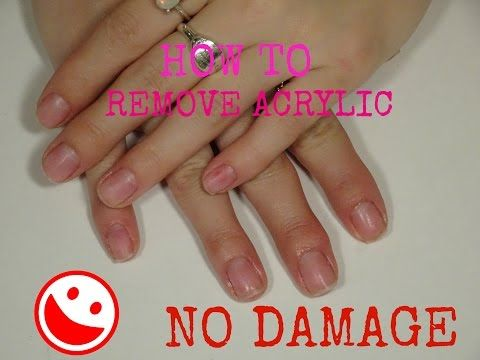 How to remove acrylic nails with no damage ! - YouTube