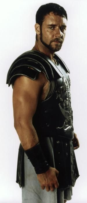 Russell Crowe. Where I fell in love with him...Gladiator.