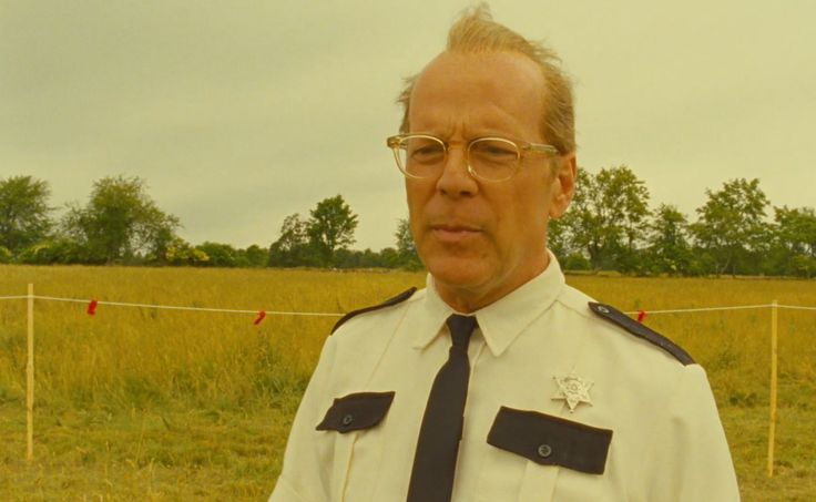 Bruce Willis wearing Sheldrake from Oliver Peoples in Moonrise Kingdom