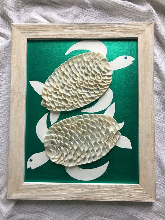 Turtle art. Shell turtle. Turtle decor. by FromCapeMayWithLove