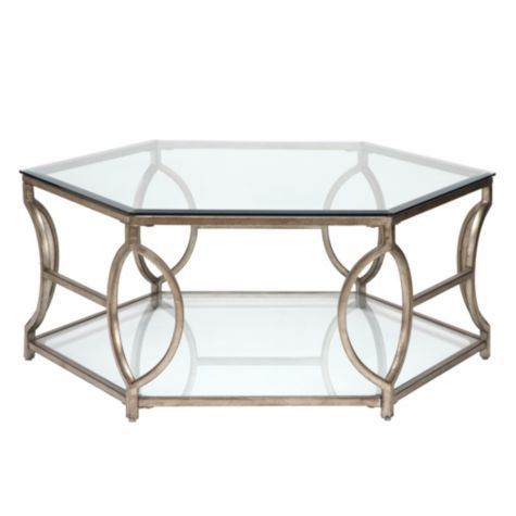 Brooke Hexagonal Coffee Table from Z Gallerie.  Really want this for our new smaller Living Room.