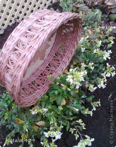 Master-Class Productos de artesanía Quilling Weaving Ala Ilfat + video MK en la maleta paja de Papel Papel de Periódico Foto 4