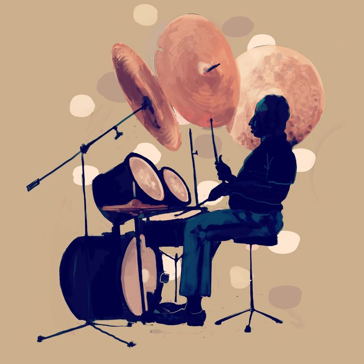 made in #procreate #ipadpro #drummer, #illustration #painting #character #music #cymbals #souldrums made by Ole Kristian Øye