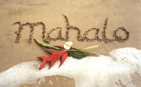 Thank you in Hawaiian!