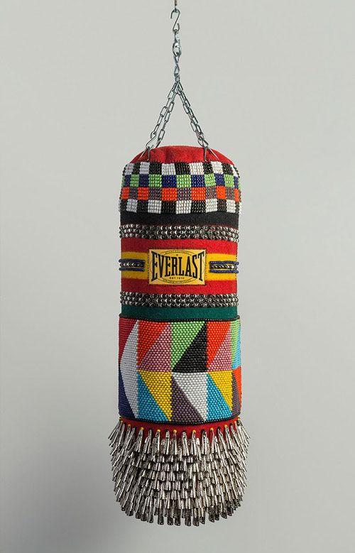 Jeffrey Gibson's custom Everlast punching bag