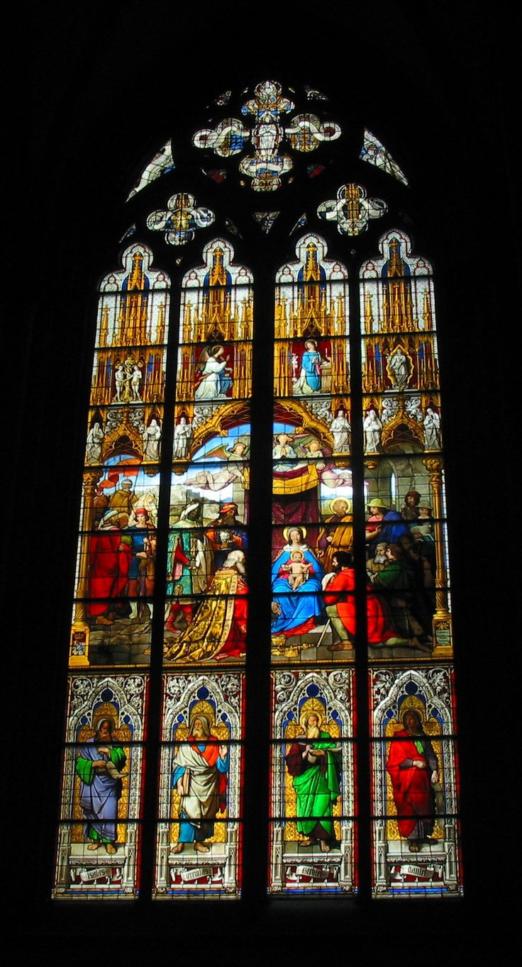 Cologne Cathedral - Germany - stained glass window ...