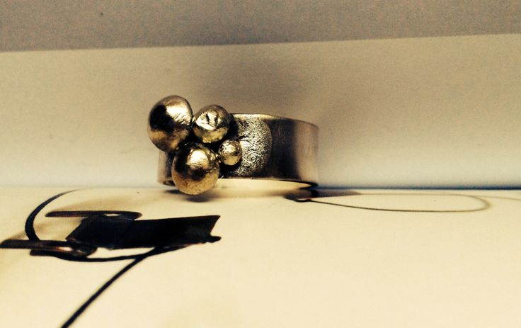 Handmade rustic silver ring
