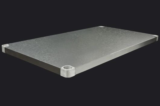 """Galvanized steel undershelf designed for Worktables.  Model: DUS-2448-GS. Available in 24"""" and 30"""" depths."""