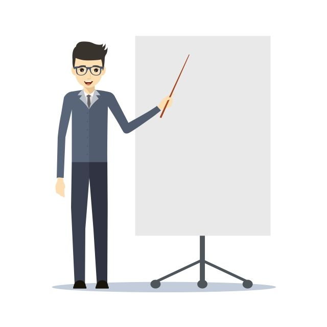 Businessman Making A Presentation Vector Of Young Man Exposing Vector And Png Make A Presentation Business Man Presentation Design