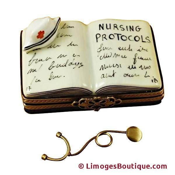 NURSING BOOK LIMOGES BOXES