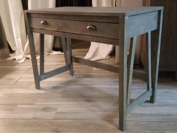 My UpsideDown V Desk | Do It Yourself Home Projects from Ana White