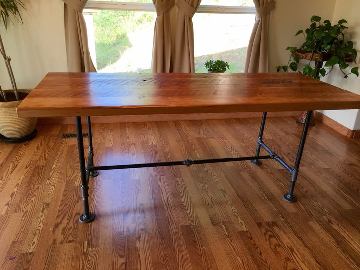 1000 ideas about pipe table on pinterest industrial for Rustic pipe table