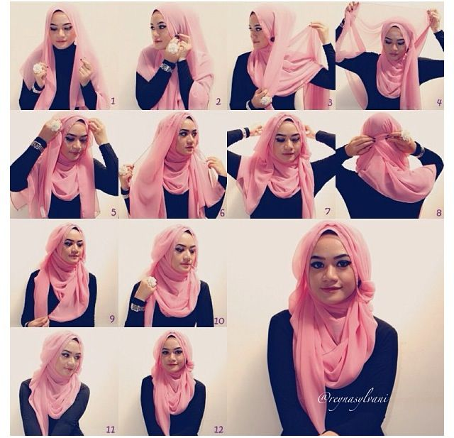 "Hijab Tutorial (easier to follow than many of the ""veil"" ones I have found)"