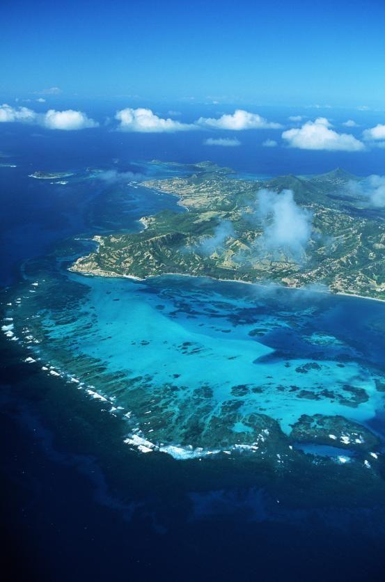 Saint-Vincent-et-les-Grenadines, un ensemble d'îles dans les Caraïbes.