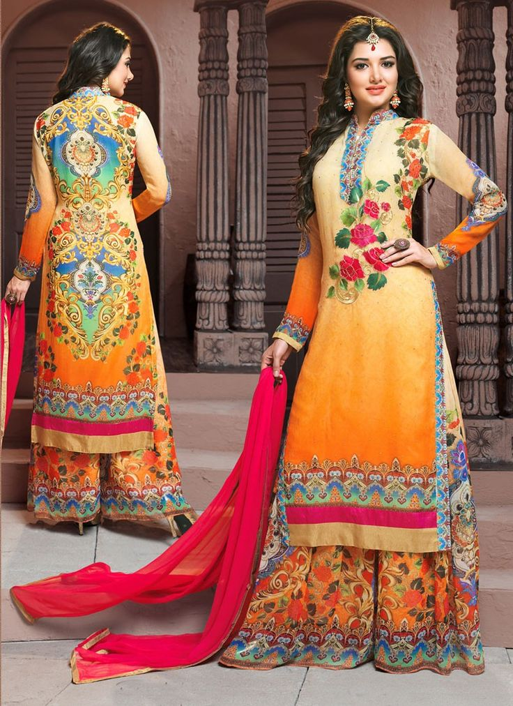11 best Palazzo Suits online at khushitrendz.com images on Pinterest