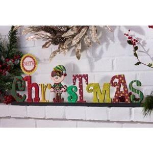 Merry Christmas Elf Statue by elena