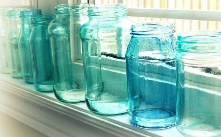 frascos-azules-decorativos (pintados con colorante vegetal