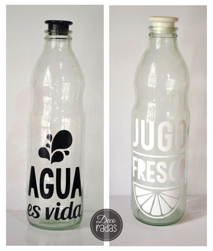 78 im genes sobre botellas decoradas en pinterest amor - Botellas de vidrio para regalo ...